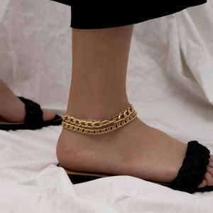 Jewelry - ⭐3/$30 | Minimal Chunky Gold Link & Chain Anklet